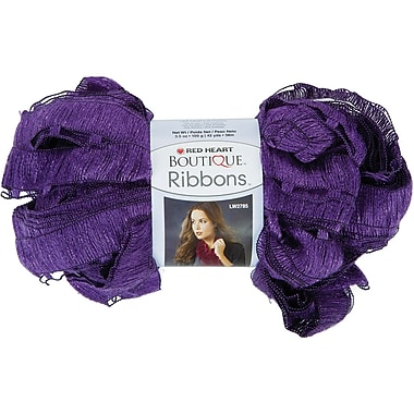 Red Heart Boutique Ribbons Yarn, Ultra Violet