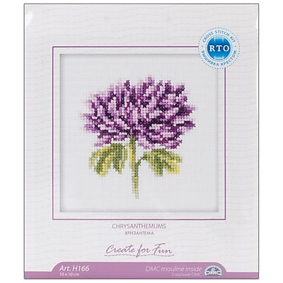 Chrysanthemums Counted Cross Stitch Kit, 4