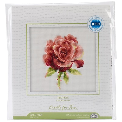 Red Rose Counted Cross Stitch Kit, 4