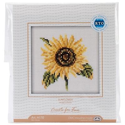 Sunflower Counted Cross Stitch Kit, 4