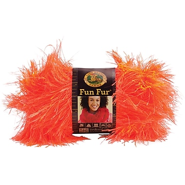 Fun Fur Yarn, Neon Orange