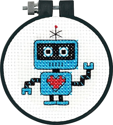 Learn-A-Craft Robot Counted Cross Stitch Kit, 3