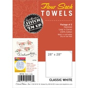 "Flour Sack Towels 28""X28"" 2/Pkg, White"