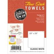 "Flour Sack Towels 28""X28"" 2/Pkg, White"