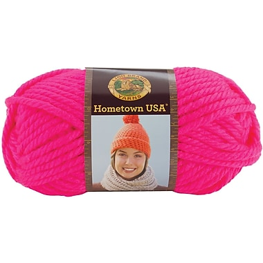 Hometown USA Yarn, Neon Pink