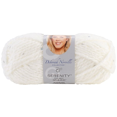 Deborah Norville Collection Serenity Chunky Sequin Yarn, Snow Crystals