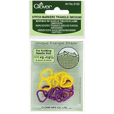 Triangle Stitch Markers Medium, Sizes 9-10-1/2 2 Colors