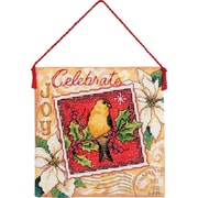 """Gold Collection Petites Joy Ornament Counted Cross Stitch Ki-4-1/2""""X4-1/2"""" 18 Count"""