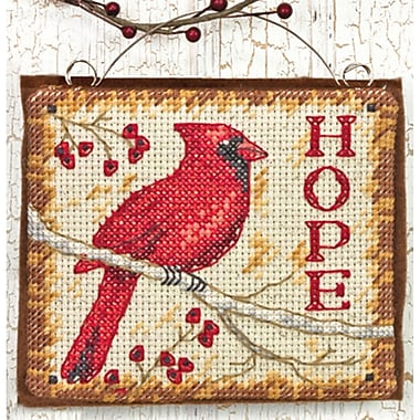 Hope Ornament Counted Cross Stitch Kit, 4-1/4