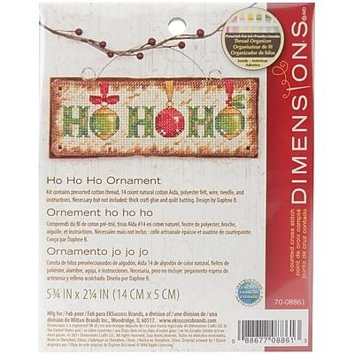 Ho Ho Ho Ornament Counted Cross Stitch Kit, 5-3/4