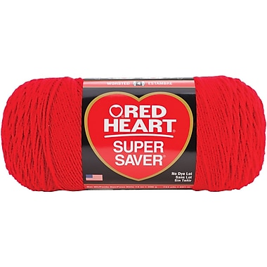 Red Heart Super Saver Yarn, Cherry Red