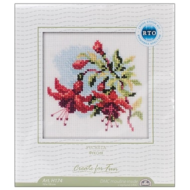 Fuchsia Counted Cross Stitch Kit, 4