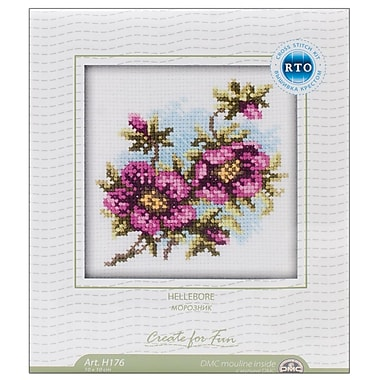 Hellebore Counted Cross Stitch Kit, 4