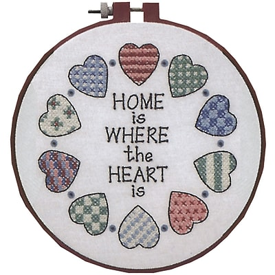 Learn-A-Craft Home And Heart Stamped Cross Stitch Kit, 6