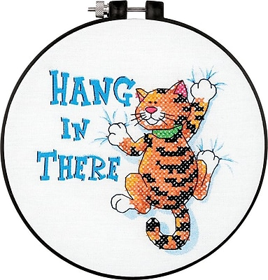 Learn-A-Craft Hang In There Stamped Cross Stitch Kit, 6
