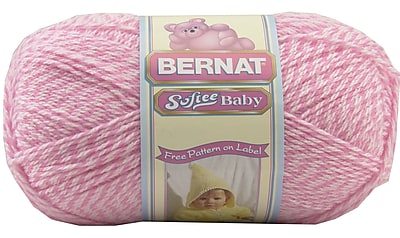 Softee Baby Yarn, Solids, Baby Pink Marl