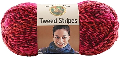 Tweed Stripes Yarn, Mixed Berries
