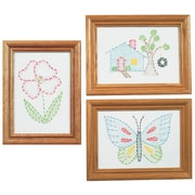 """Stamped Embroidery Kit Beginner Samplers 6""""X8"""""""