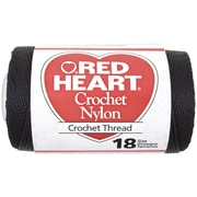 Nylon Crochet Thread Size 18 150yd, Black