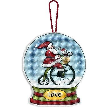 Love Snowglobe Counted Cross Stitch Kit, 3-3/4