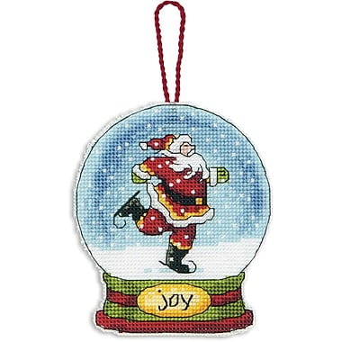 Joy Snowglobe Counted Cross Stitch Kit, 3-3/4