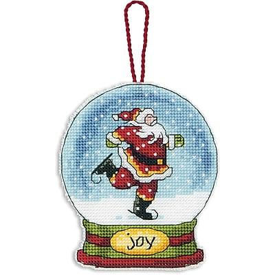 Joy Snowglobe Counted Cross Stitch Kit, 3-3/4