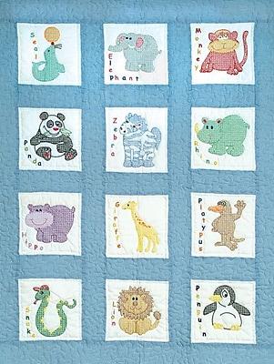 Stamped White Nursery Quilt Blocks 9