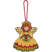 """Susan Winget Angel Ornament Counted Cross Stitch Kit, 3-1/4""""X3-3/4"""" 14 Count Plastic Canvas"""