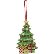 """Susan Winget Tree Ornament Counted Cross Stitch Kit, 3""""X4-3/4"""" 14 Count Plastic Canvas"""