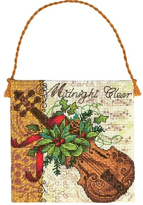 Gold Collection Petites Violin Ornament Counted Cross Stitch-4-1/4