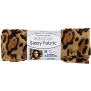 Red Heart Boutique Sassy Fabric Yarn, Tan Leopard
