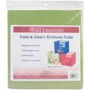 """Yarn & Craft Storage Cube 12""""X12""""X12"""", Lime Green"""