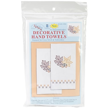 Stamped White Decorative Hand Towel 17