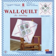 Stamped White Wall Or Lap Quilt