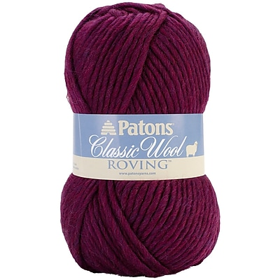 Classic Wool Roving Yarn, Plum