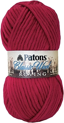 Classic Wool Roving Yarn, Cherry
