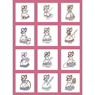 Stamped Baby Quilt Blocks 9
