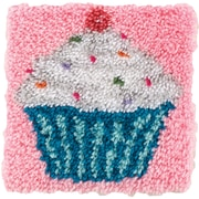 "Wonderart Latch Hook Kit 12""X12"", Cupcake"