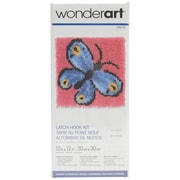 """Wonderart Latch Hook Kit 12""""X12"""", Butterfly"""