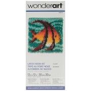"Wonderart Latch Hook Kit 12""X12"", Angel Fish"