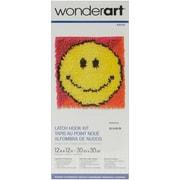 "Wonderart Latch Hook Kit 12""X12"", Smiley Face"