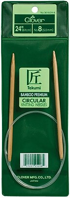 Takumi Bamboo Circular Knitting Needles 24