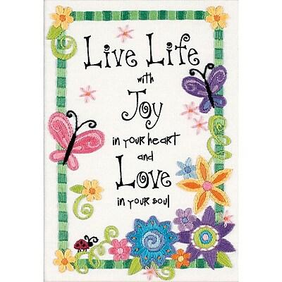 Live Life Mini Crewel Kit, 5