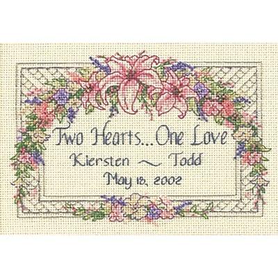 One Love Wedding Record Mini Counted Cross Stitch Kit, 7