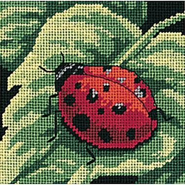 Ladybug, Ladybug... Mini Needlepoint Kit, 5