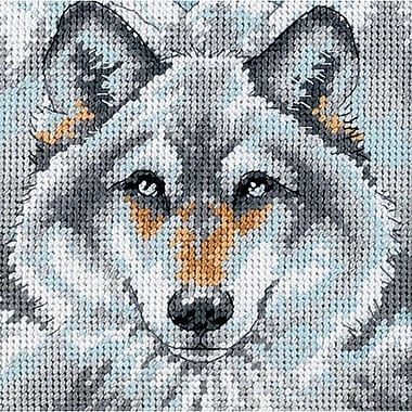 Call Of The Wolf Mini Needlepoint Kit, 5