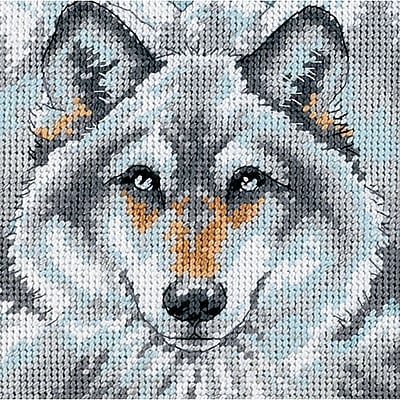 Call Of The Wolf Mini Needlepoint Kit, 5