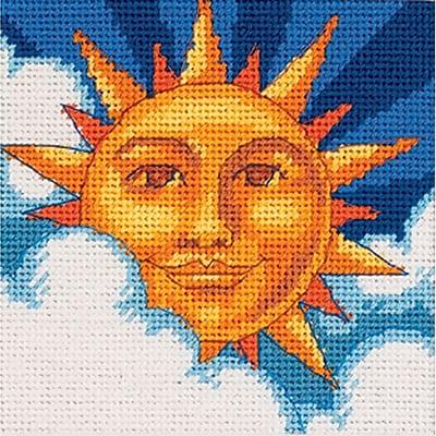 Celestial Sun Mini Needlepoint Kit, 5
