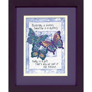 Jiffy Today Is A Gift Mini Stamped Cross Stitch Kit, 5