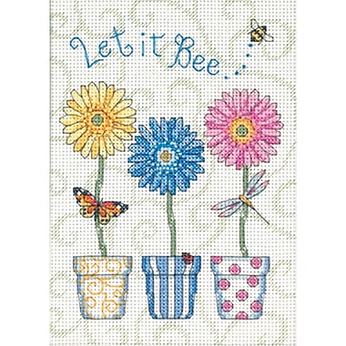 Jiffy Let It Bee... Mini Counted Cross Stitch Kit, 5
